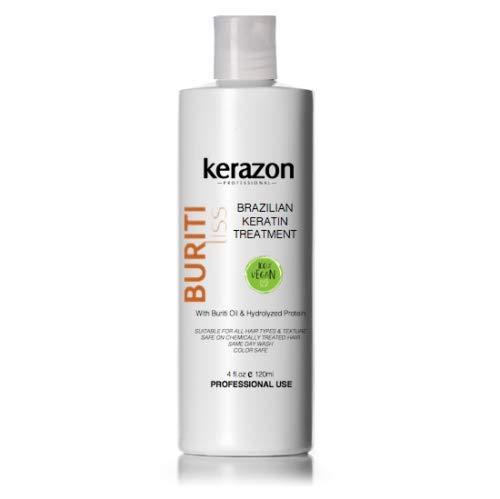 Brazilian Keratin Treatment Hair Complex Blowout 4oz/120ml Tratamiento de Keratina Importada Buriti Liss by KERAZON