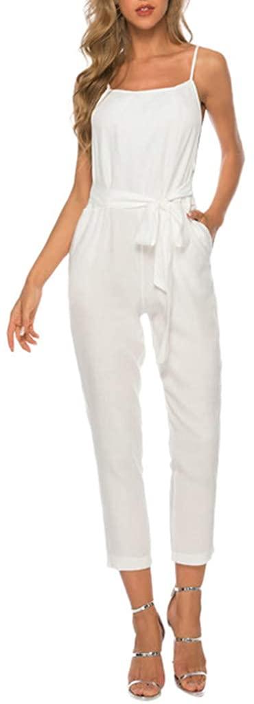 TIANMI Women's Summer Sexy Jumpsuit Suspenders Women's Casual Pants Playsuit