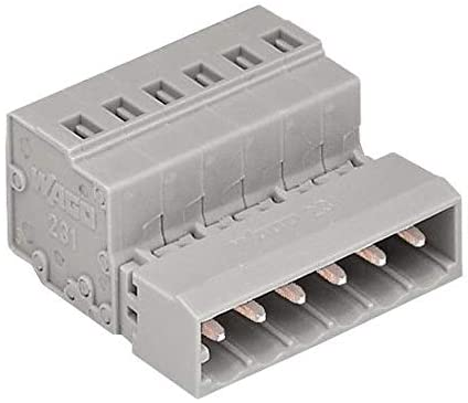 231-605 - Pluggable Terminal Block, 5 mm, 5 Positions, 28 AWG, 12 AWG, 2.5 mm², Clamp, (Pack of 5)