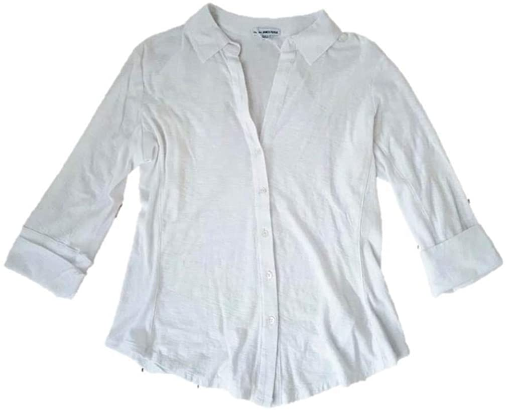 James Perse Womens Side Panel Shirt, White, 3