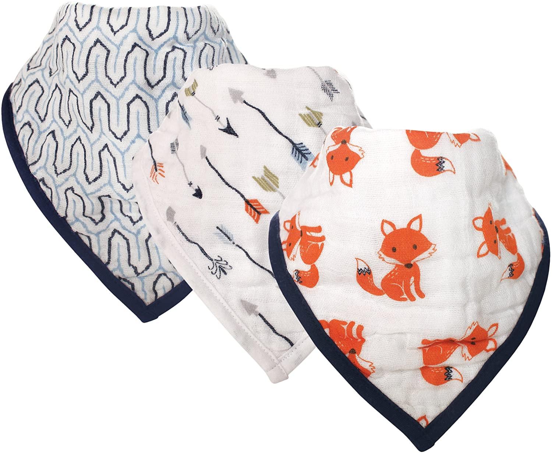 Hudson Baby Unisex Baby Muslin Cotton Bandana Bibs
