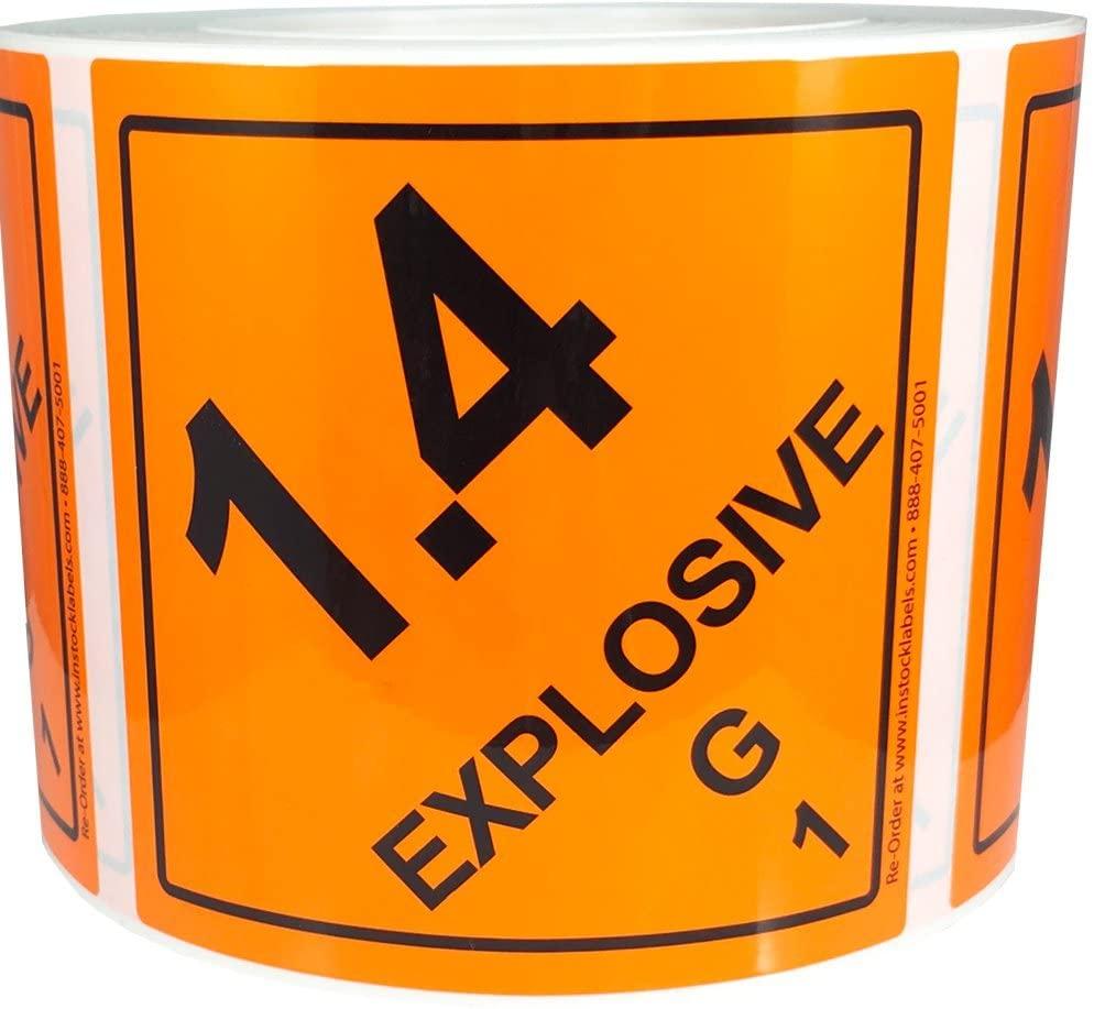 1.4 G Hazard Class 1 D.O.T Label