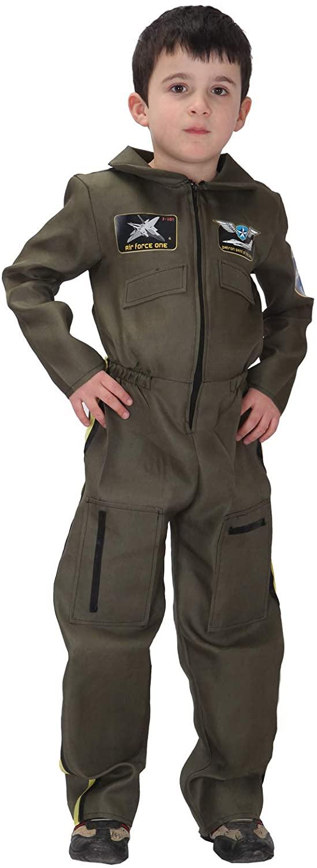 Shanghai Story Kids Flight Suit Pilot Costume Boys Jumpsuit Long-Sleeve Zipper Coveralls