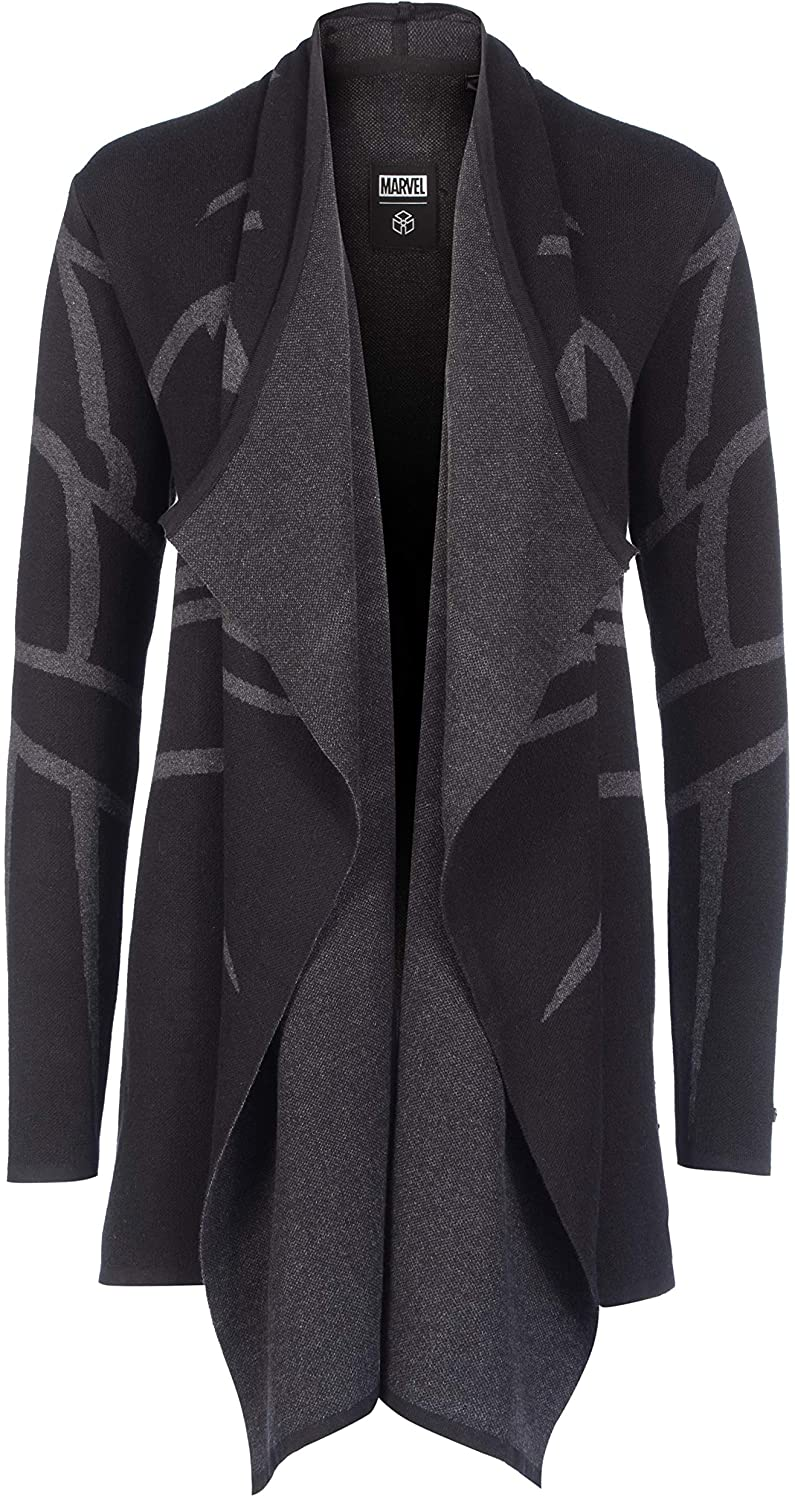 Musterbrand Marvel Women Ladies' Cardigan Black Panther Black