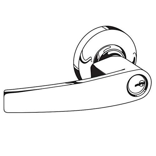 Schlage Commercial AL50JDJUP605 AL Series Grade 2 Cylindrical Lock, Entry/Office Function Push Button Locking, Jupiter Lever Design, Bright Brass Finish