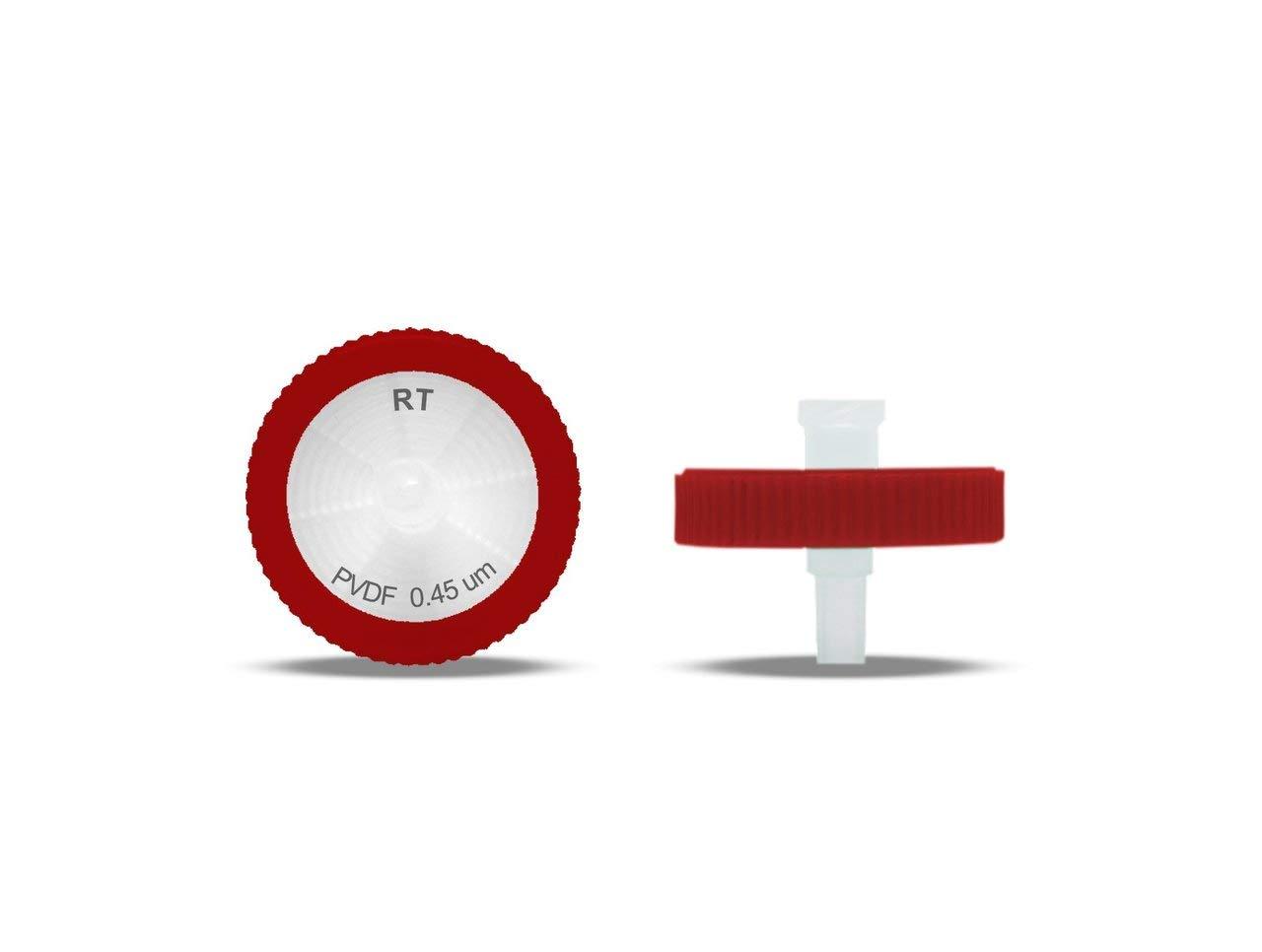 PVDF Syringe Filters, 0.45um, 25mm, 10/pk