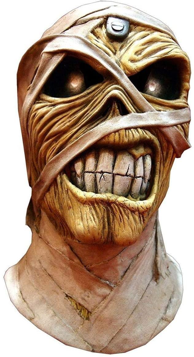Trick or Treat Studios Iron Maiden Powerslave Full Head Mask, Beige, One-Size