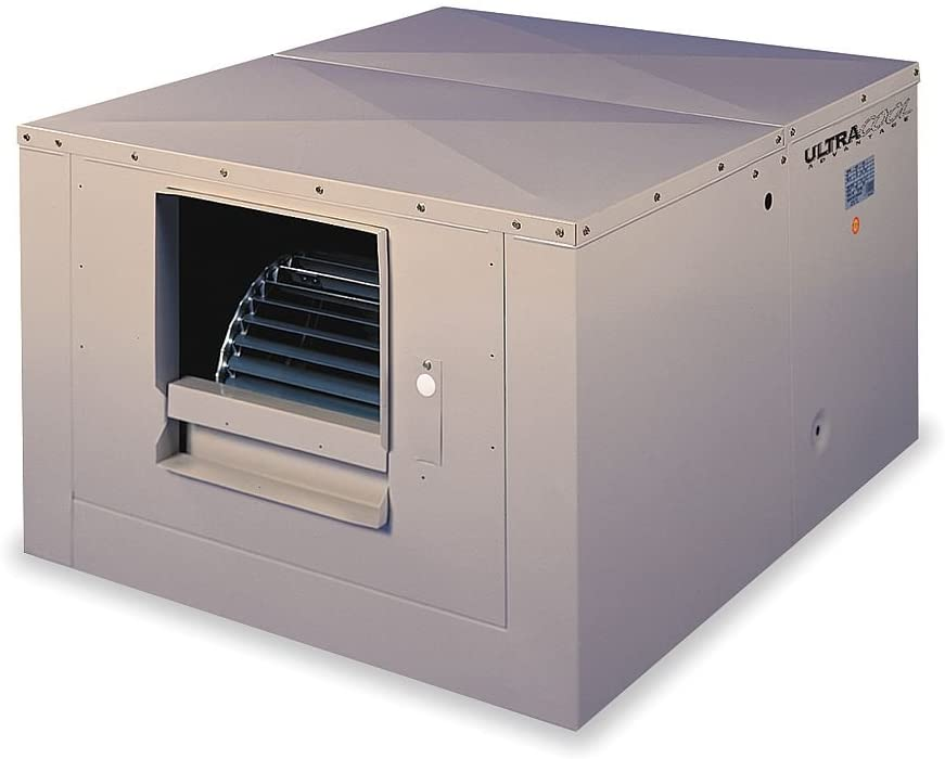 5400 cfm Ducted Evaporative Cooler w/Motor, 1/2 hp - 8 gal.