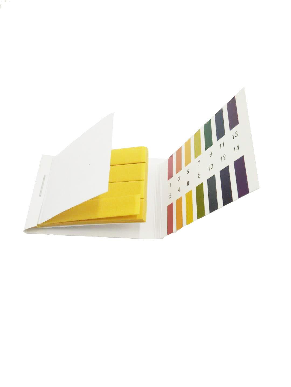 pH Test Strips(pH 1-14), 4 packs 320PCS Test Paper Litmus Strips Tester for Saliva Urine Water Soil Testing Universal Application