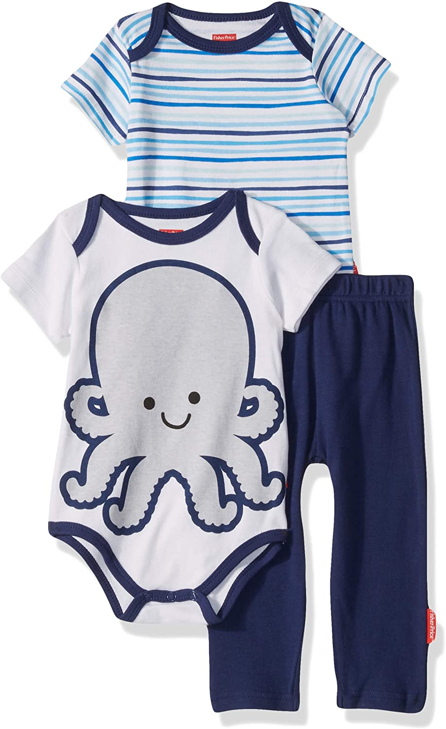 Fisher-Price 3-Piece Bodysuit and Pant Set
