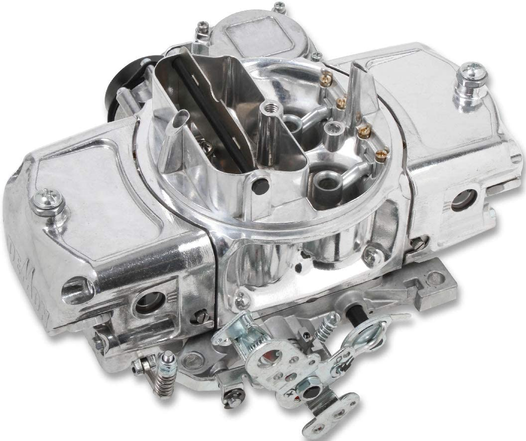 BRAND NEW HOLLEY 650 CFM ALUMINUM MIGHTY DEMON CARBURETOR,SHINY FINISH,VACUUM SECONDARIES,ELECTRIC CHOKE,DOWN LEG BOOSTER,COMPATIBLE WITH GASOLINE