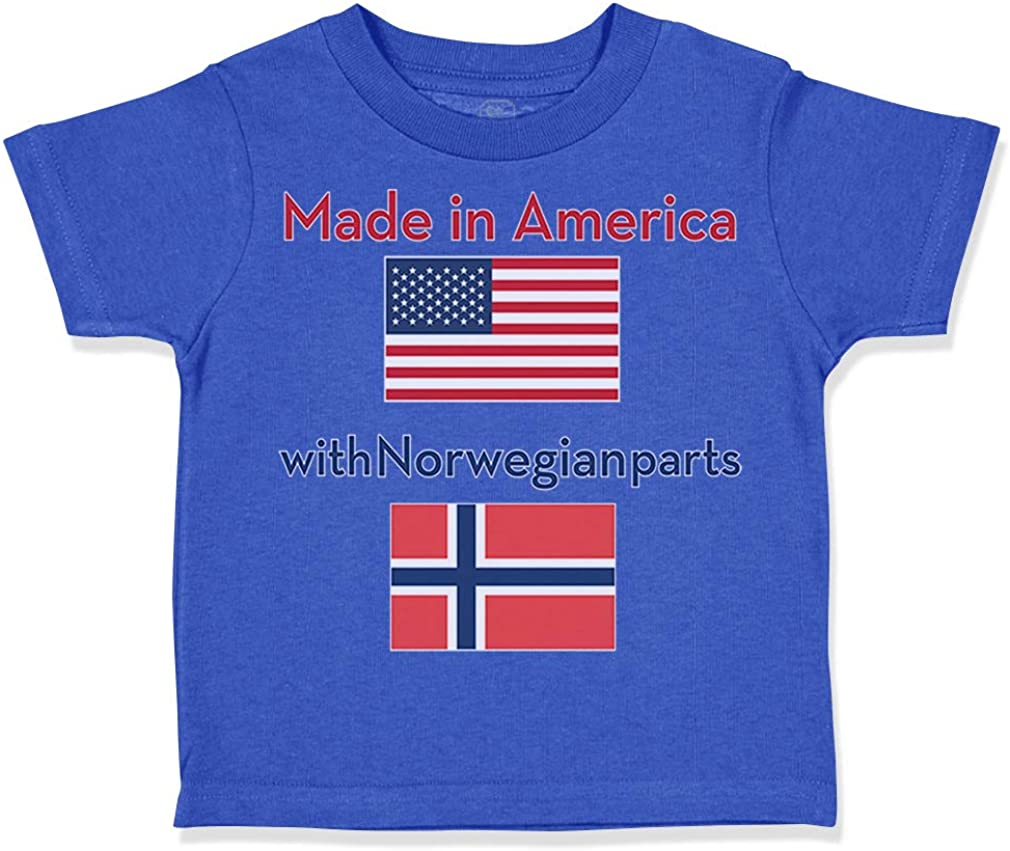 Custom Toddler T-Shirt Made in America with Norwegian Parts Boy & Girl Clothes