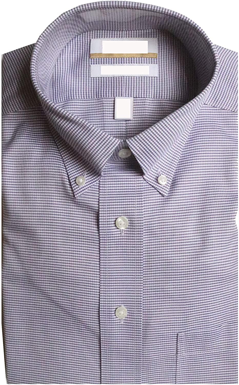 Gold Label Roundtree & Yorke Non-Iron Regular Button Down Plaid Dress Shirt G16A0113 Purple