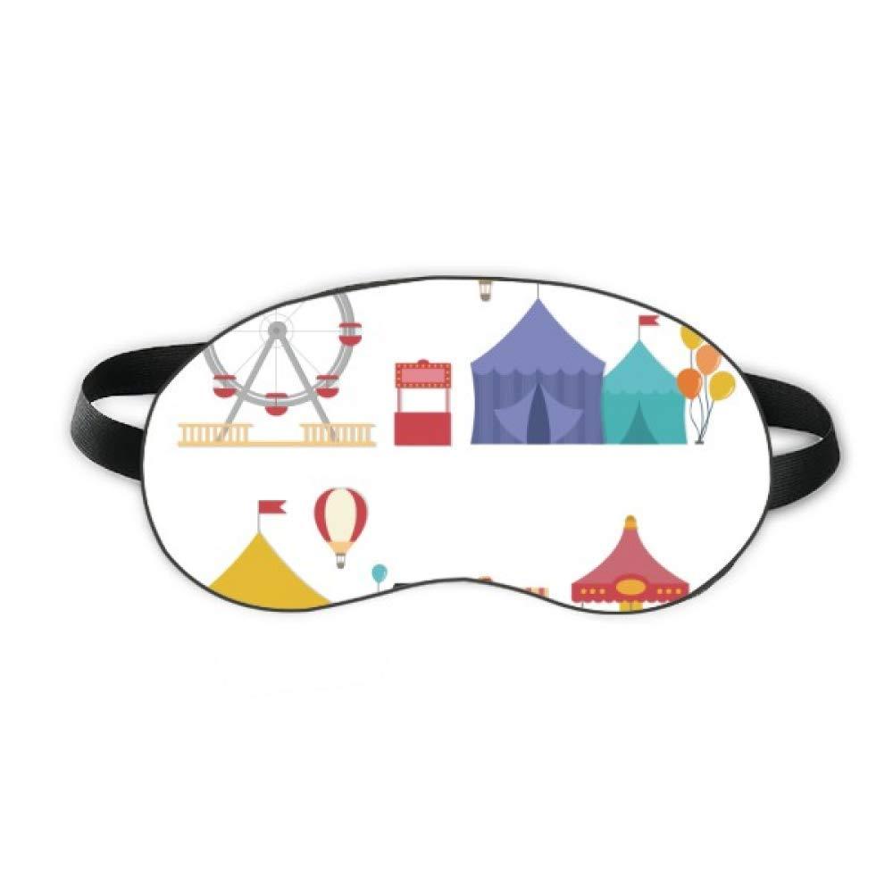 Amusement Park Facilities Colourful Pattern Sleep Eye Shield Soft Night Blindfold Shade Cover