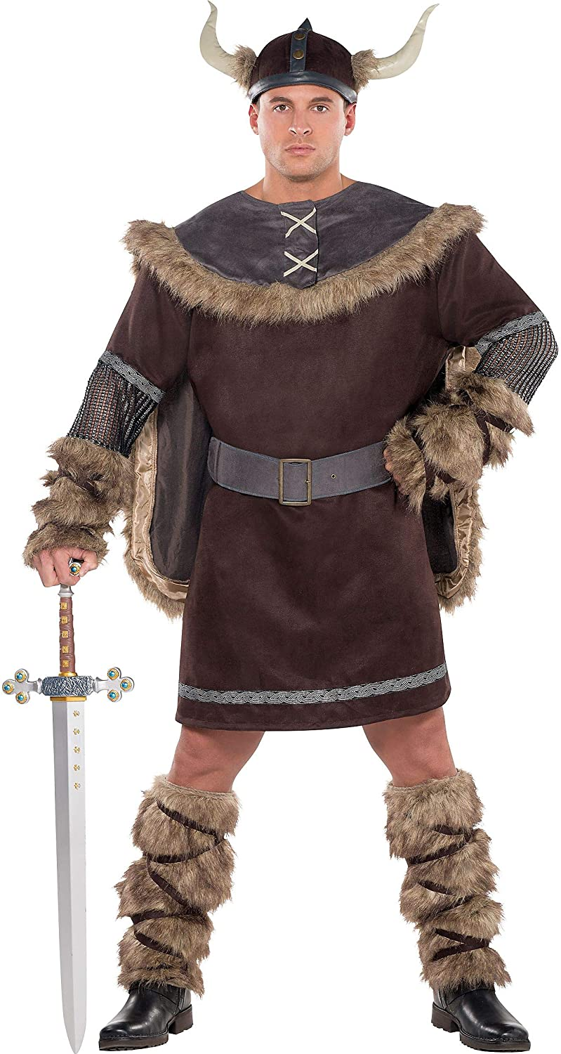 Amscan AMSCAN Viking Warrior Halloween Costume for Men, Plus Size, with Included Accessories