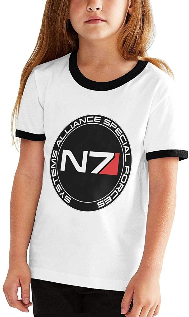 Yangxud Boys,Girls,Youth N7 Tee Shirt