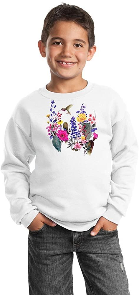 Hummingbird Youth Sweatshirt - Desert Blooms