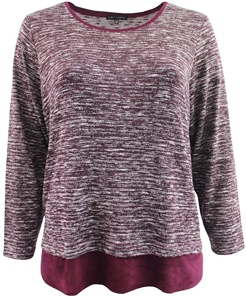 Plus Size Women Long Sleeve Knit Sweater Top Shirt Blouse Clothing
