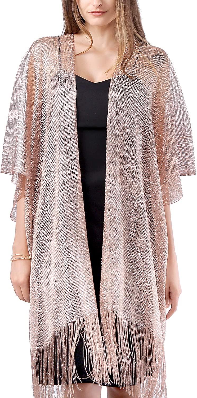 MissShorthair Sparkle Cardigan Plus Size Long Kimonos for Women
