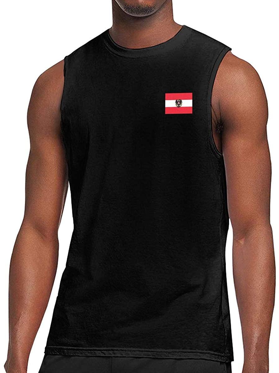 Flag of Austria Men's Tank Top Shirt Bodybuilding Vest Vest Tank Sleeveless T Shirt