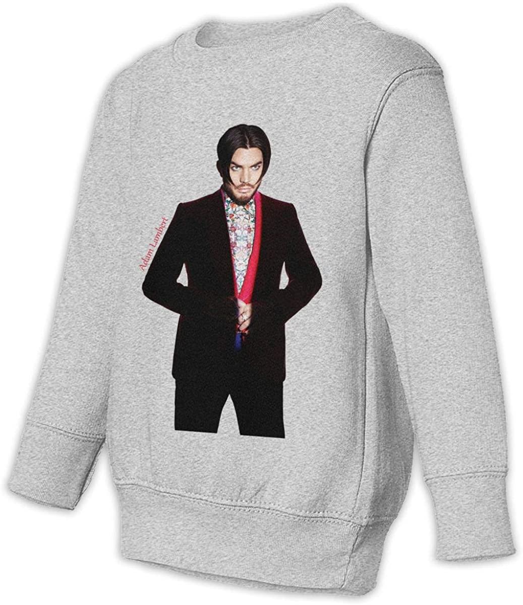 BodiGulick Adam Lambert Boys and Girls Sweatshirts, Cotton Sports Tops Sweatshirt Black