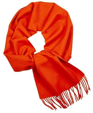 100% Baby Alpaca Scarf Orange Colour