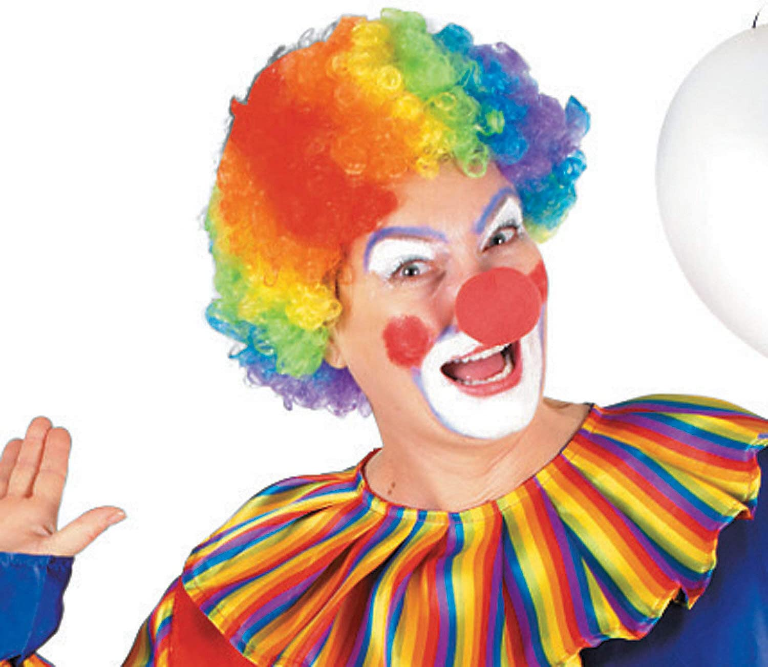 Fun Express - Rainbow Clown Wig for Party - Apparel Accessories - Costume Accessories - Wigs & Beards - Party - 1 Piece