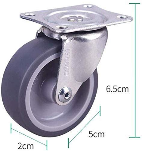Furniture castors universal wheel 2 inch lightweight synthetic adhesive damping wheel directional wheel universal wheel brake wheel platform