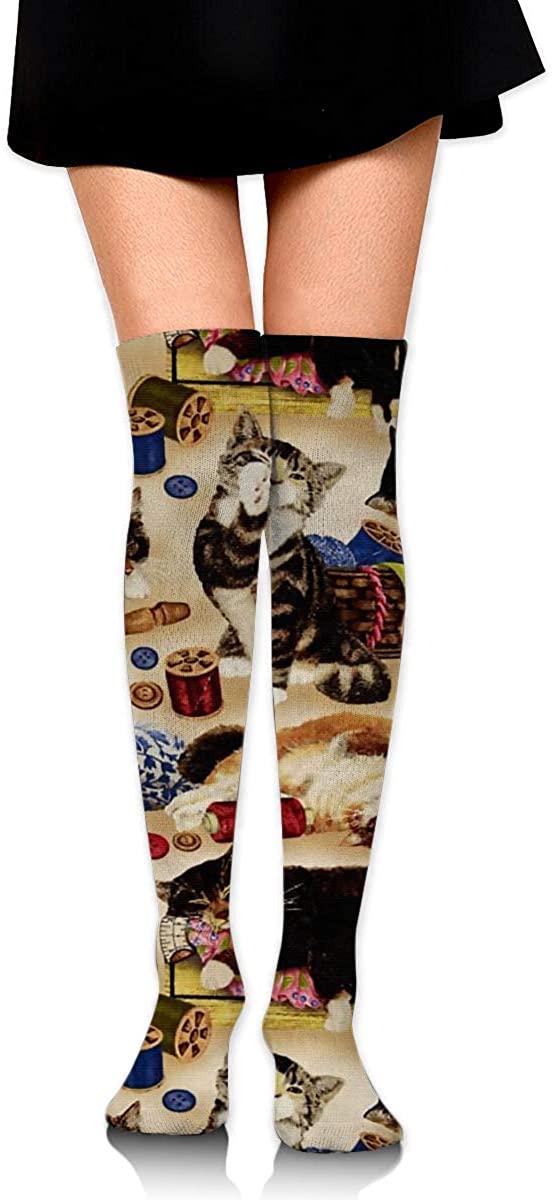 Women's Knee High Socks Cat Party Sports Fashion Girls Leg Warmer Dresses Trouser Knit Long Boot Stockings