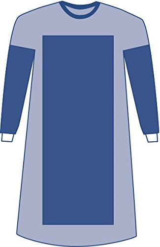 Medline DYNJP2726 Sterile Poly-Reinforced Aurora Surgical Gown, XX-Large/Extra-Long, Blue (Pack of 18)