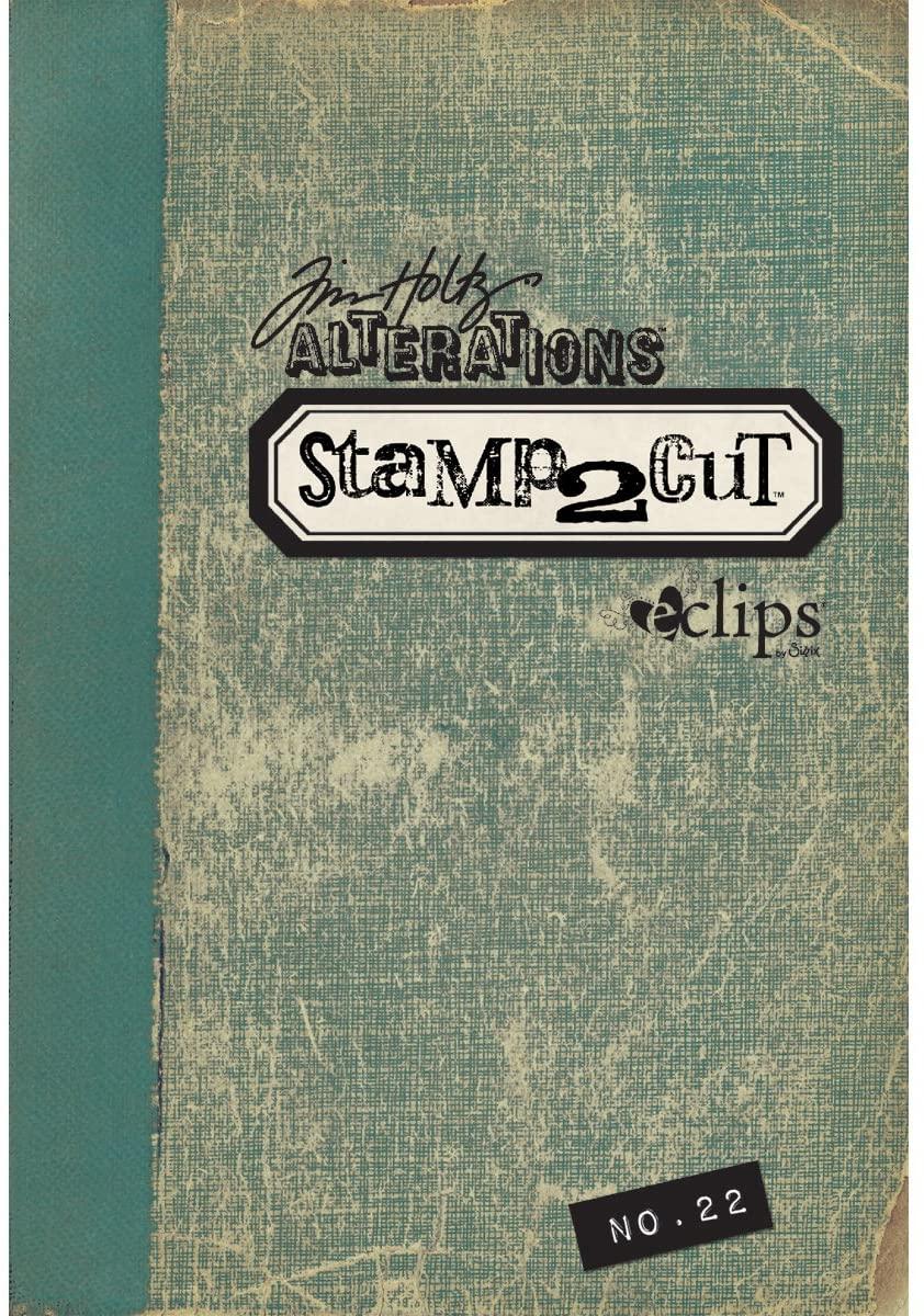 Tim Holtz Sizzix - Eclips Cartridge Tim Holtz Alterations Stamp2Cut No. 22
