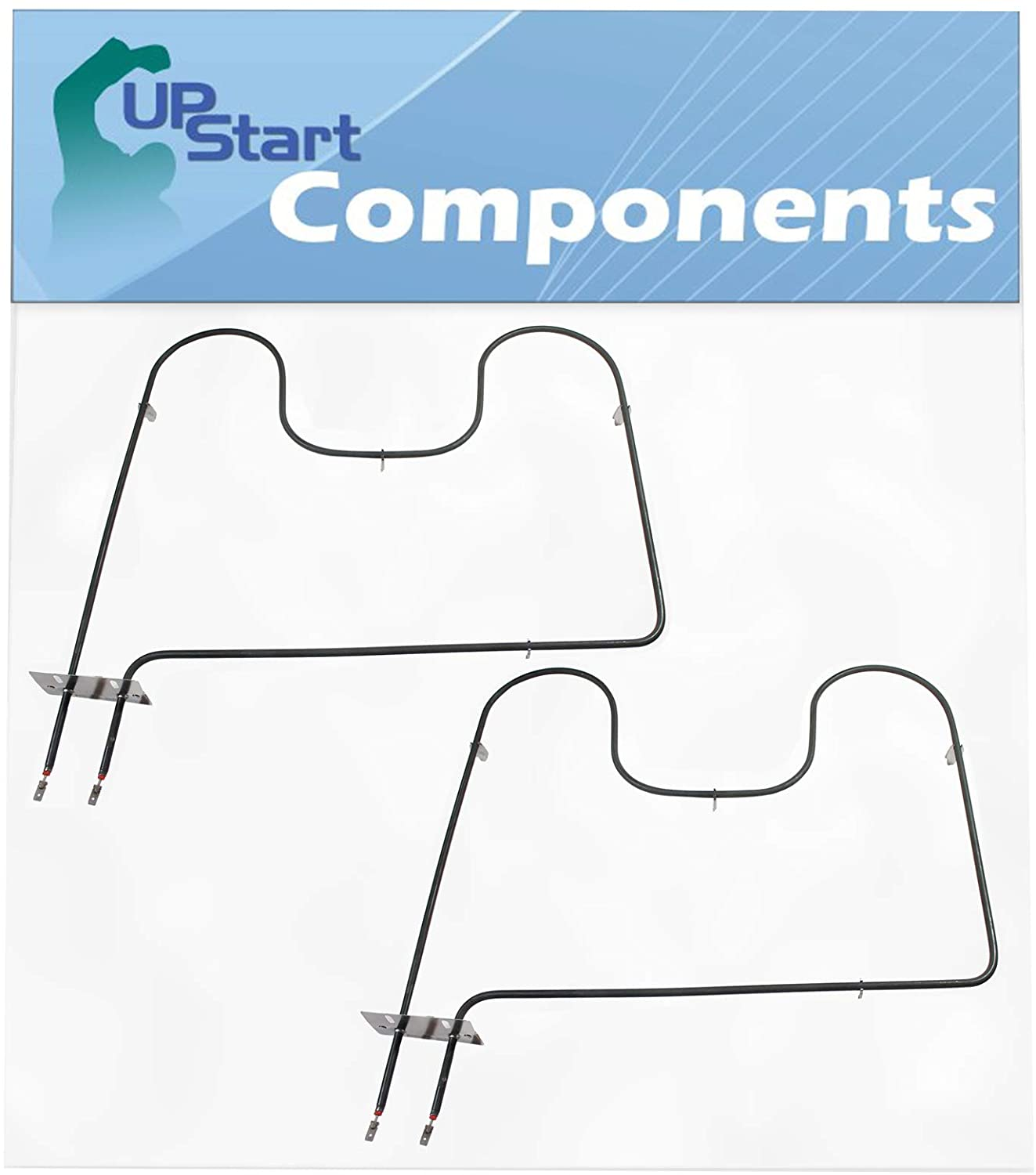 2-Pack 7406P428-60 Oven Heating Element Replacement for Maytag MER6772BCB - Compatible with WP7406P428-60 Bake Element