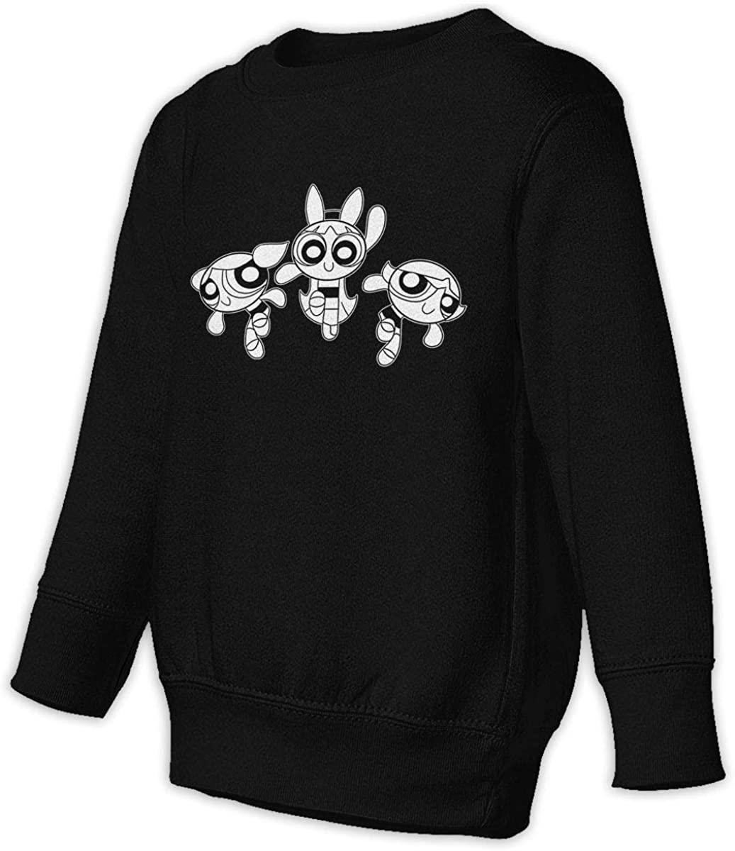 KisdFinda The Powerpuff Girls Black Children's Fashion Crew Neck Sweater Toddler Junior Sweatshirt Pullover