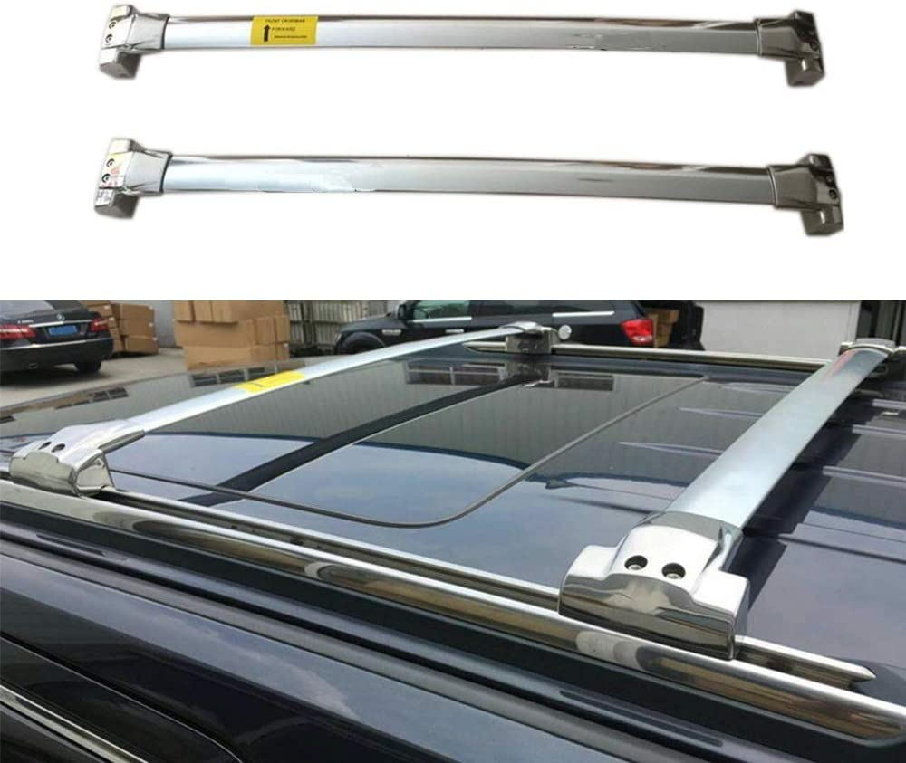 Lequer Stainless Steel Cross Bars Crossbars Fits for Jeep Grand Cherokee 2011-2020 Holder Baggage Carrier Luggage Roof Rack Rail
