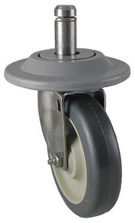 Swivel Stem Caster, Polyurthn, 5 in, 300 lb
