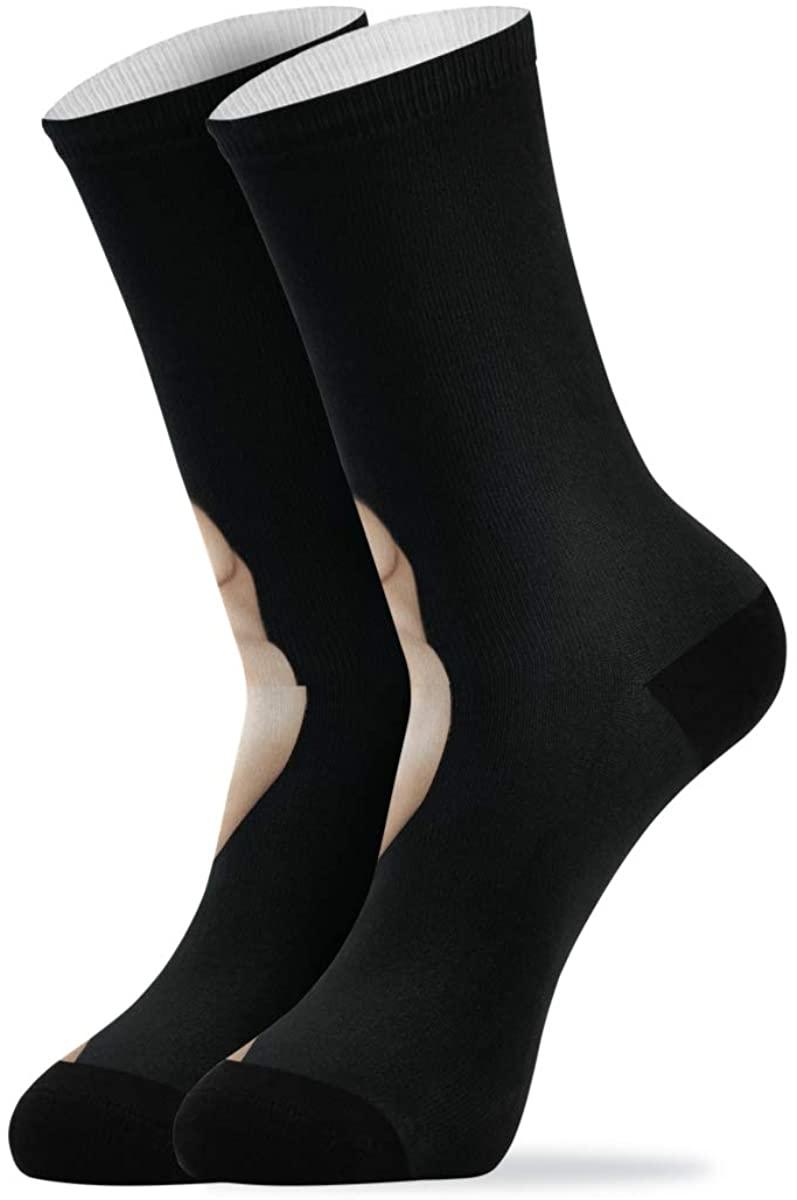 Novelty Quarter Crew Mid Calf High Show Dress Socks For Women Men Beautiful Fractal Miracle