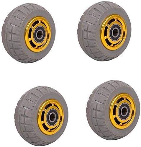 Castors (pack of 4) 6 inch rubber high performance silent 4 inch 5 inch 8 inch trolley foot wheel universal wheel industrial trailer wheel single wheel