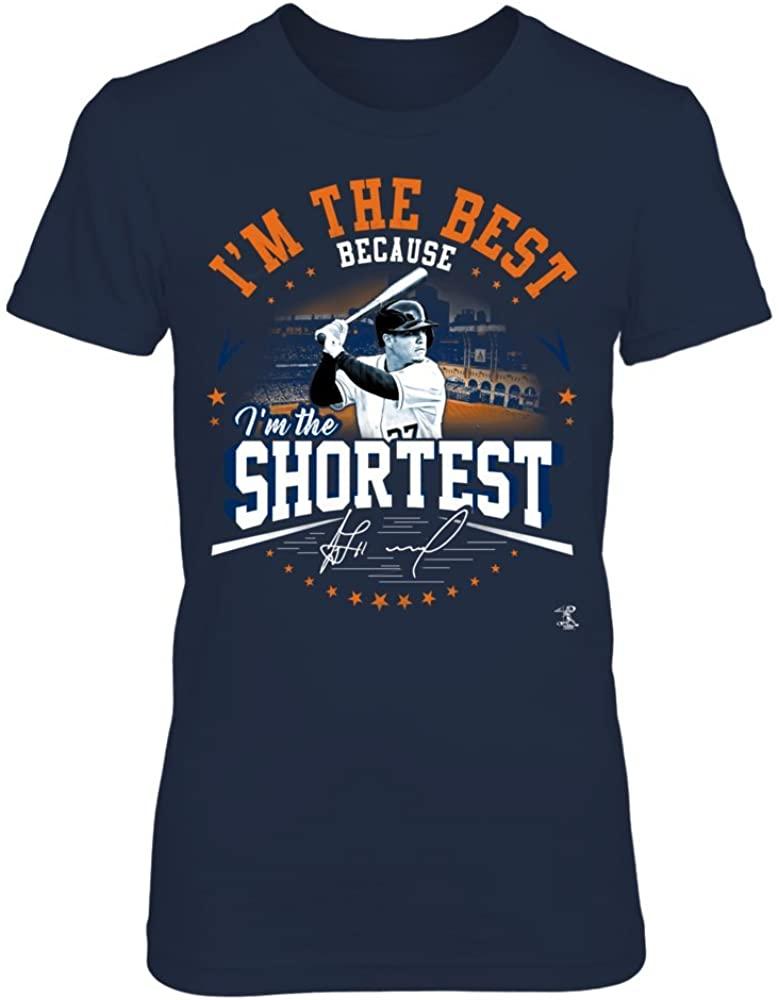 FanPrint Jose Altuve Hoodie - I'm The Best Because I'm The Shortest