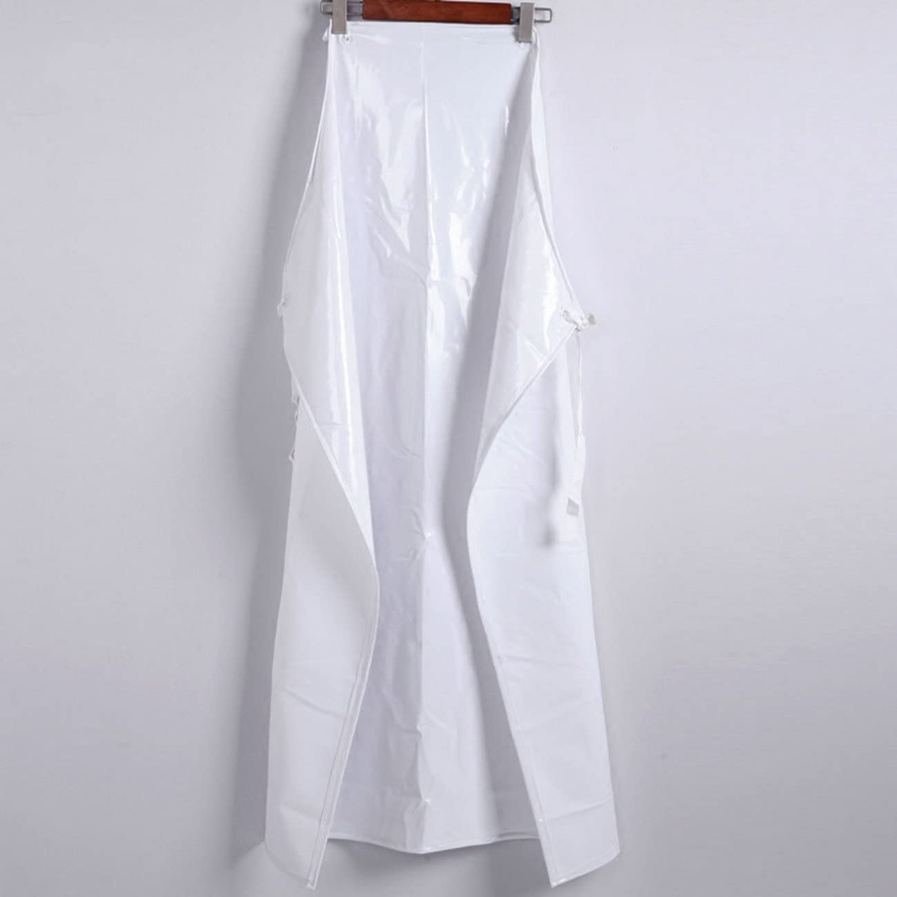 geranjie White waterproof sleeveless pvc aprons thick acid slaughterhouse apron 110x90cm
