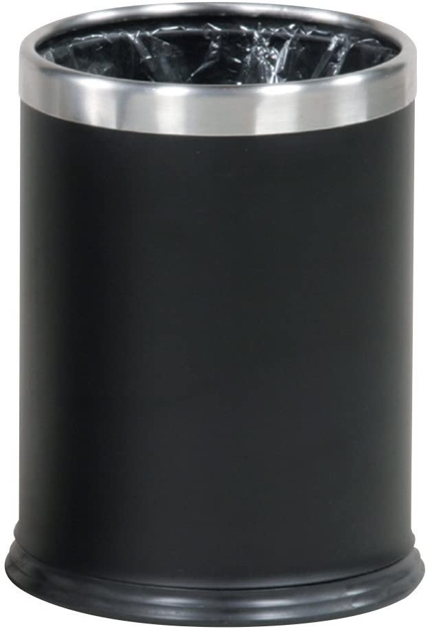 Rubbermaid Commercial Products FGWHB14EBK Executive Series Hide-A-Bag Open-Top Waste Basket (3-1/2-Gallon, Black)