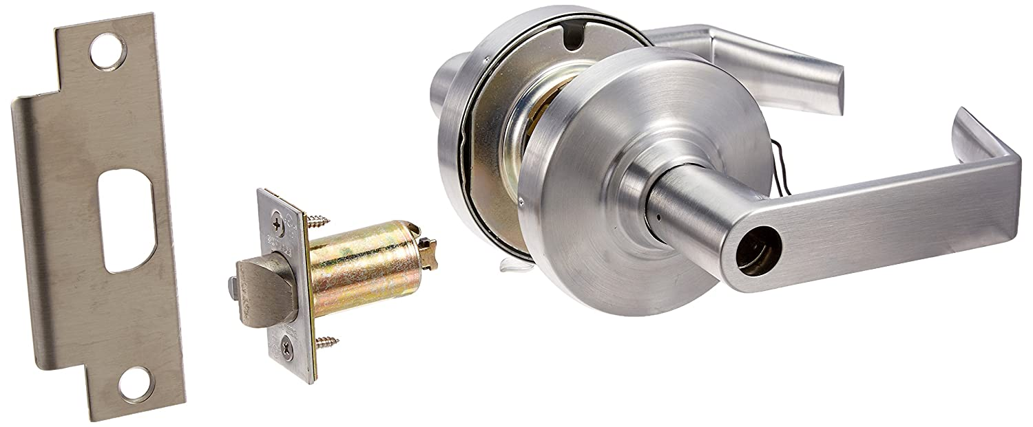 Schlage Commercial ND80EURHO626 ND Series Grade 1 Cylindrical Lock, Storeroom Electrically Unlocked (Fail Secure), Rhodes Lever Design, Satin Chrome Finish