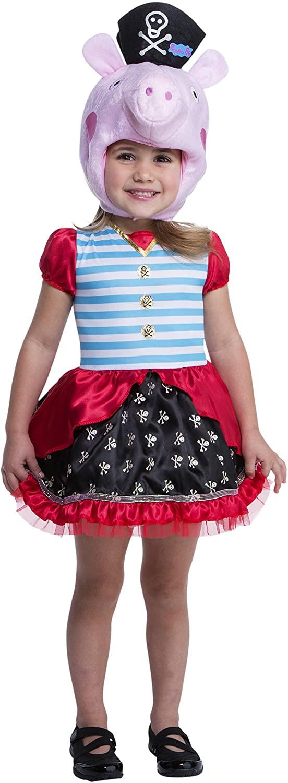 Peppa Pig Pirate Costume, 2T