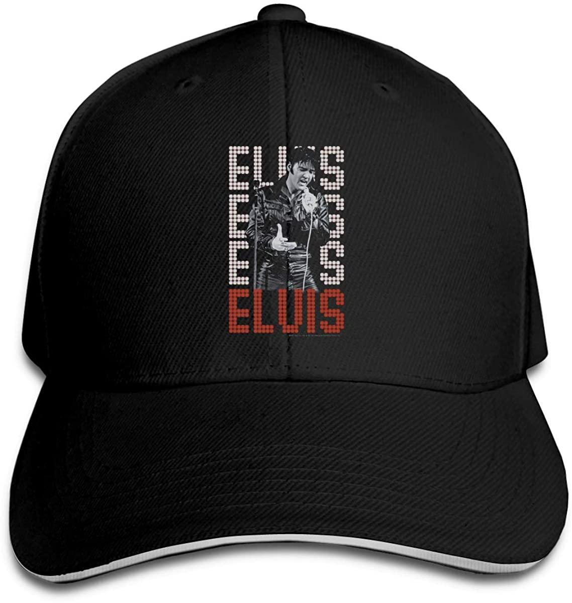 Elvis Presley King of Rock and Roll Music Sandwich Baseball Cap Hip Hop Outdoor Hat Unisex