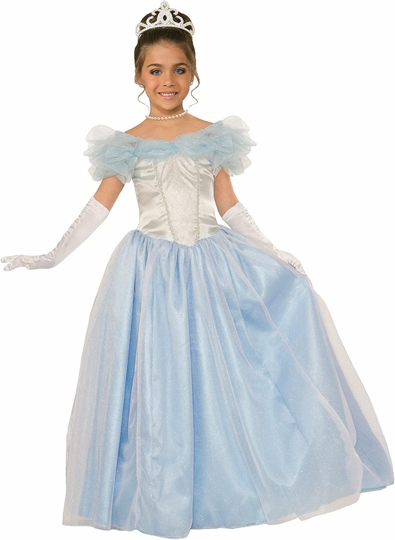 Forum Novelties Kids Happily Ever After Princess Costume, Blue, Large