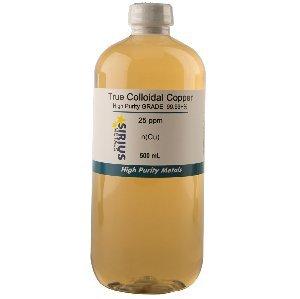 True Colloidal Copper 25ppm 500mL in a BPA free plastic bottle