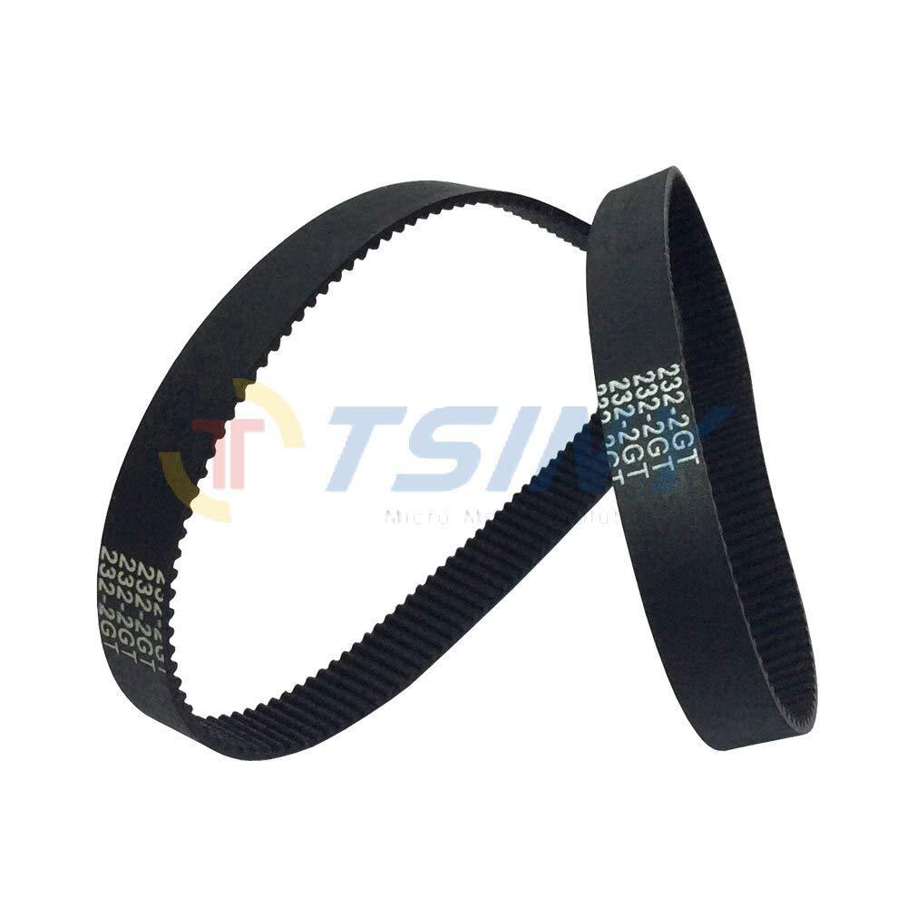 Fevas 2pcs/lot GT2 Transmission Belt HTD 2GT Annular Synchronous Belt Length 232mm Belt Width 9mm 116 Teeth for DIY Parts