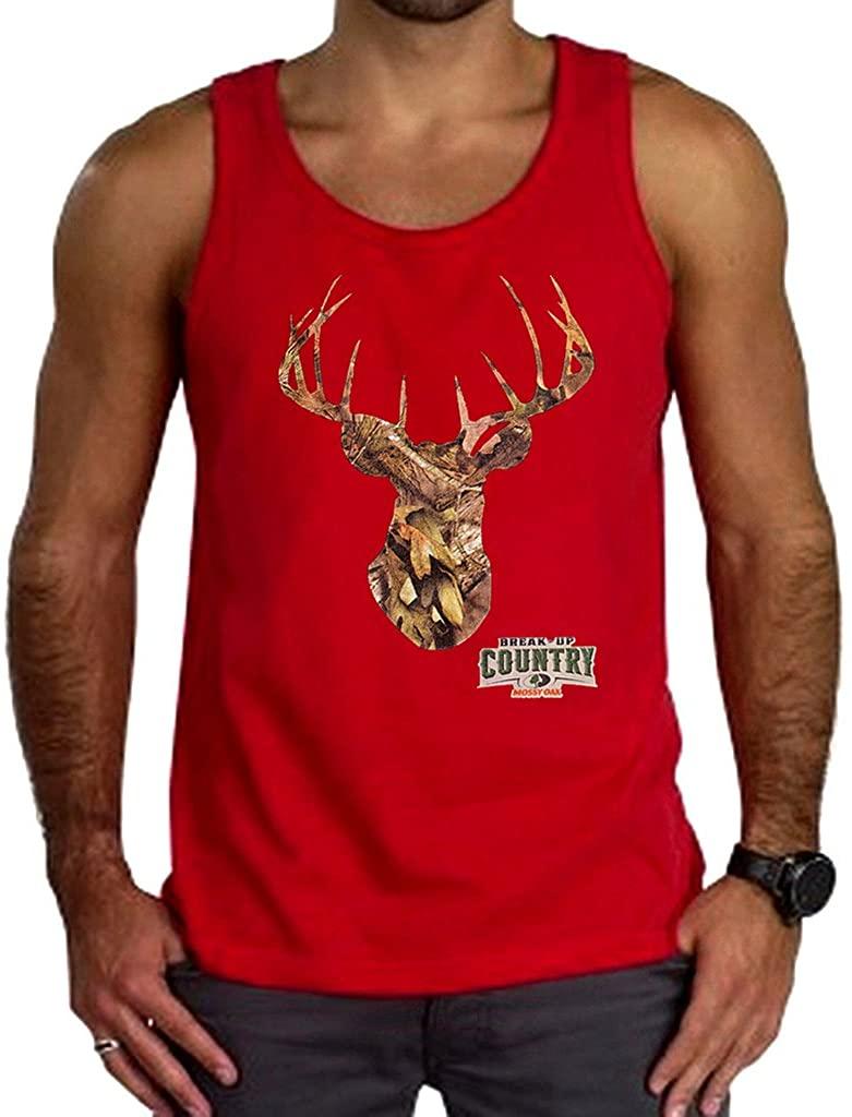 Mossy Oak Camo Deer Head Men's Red Tank Top Red