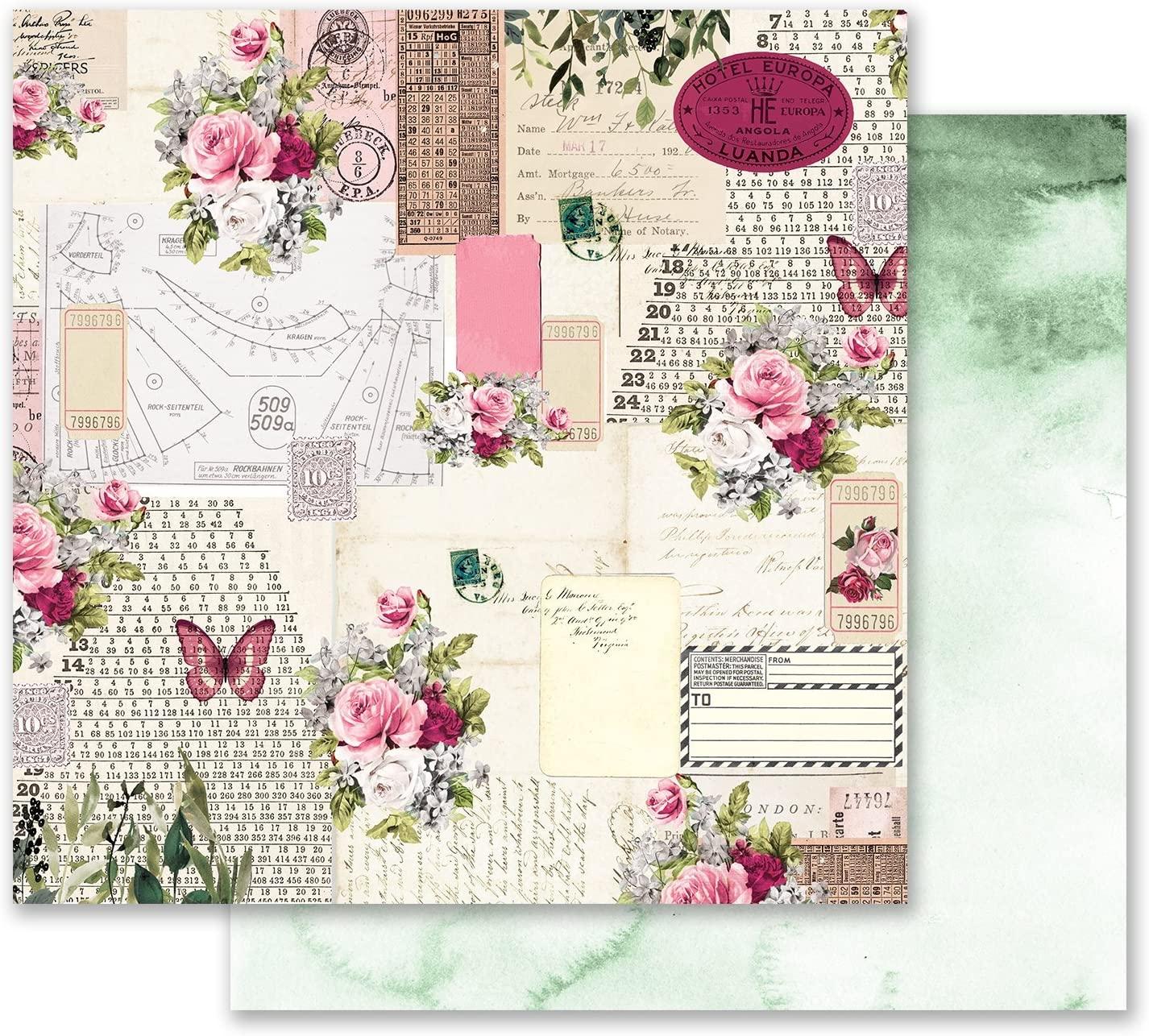 Prima Marketing Inc. Misty Rose 12x12 Paper-Scented Love Letters, 12 x 12, Multicolor