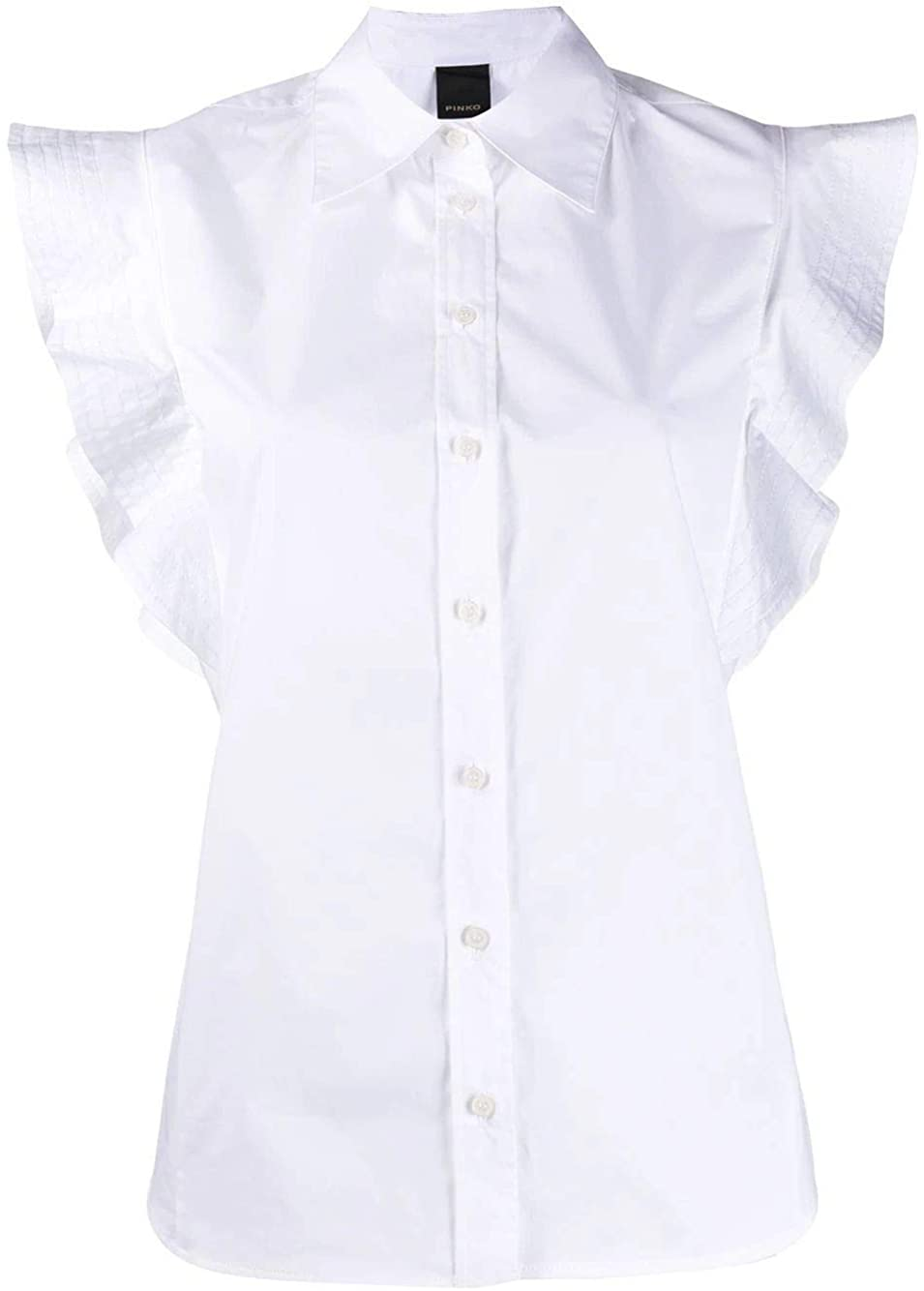 Pinko Luxury Fashion Woman 1B14DW8012Z04 White Cotton Shirt | Spring Summer 20