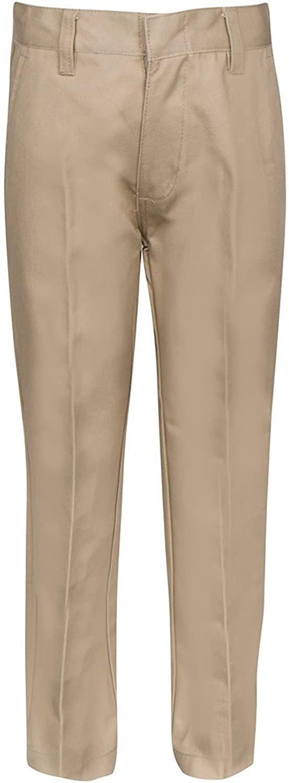 Mens Flat Front Casual Khaki Uniform Golf Pants Size 30/32